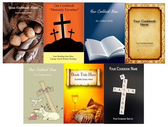 Create a church cookbook sample covers